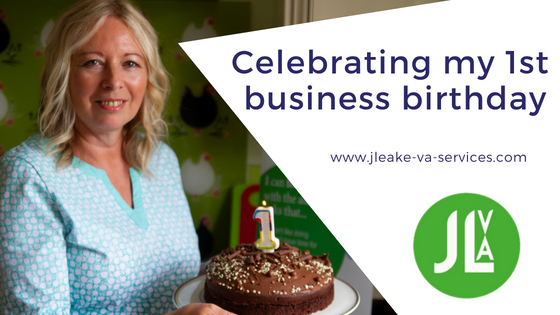 celebrating first business birthday